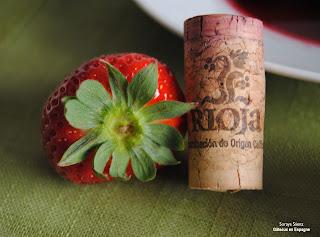 fraises au vin rouge