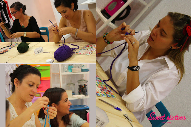 Taller INICIACIÓN AL GANCHILLO Sweet sixteen craft store, Madrid