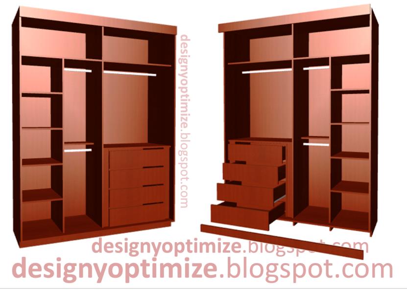 Dise o de muebles madera closet armario puertas for Planos de roperos de madera