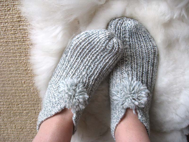Knitted House Slippers Pattern : Big Little: Slippers