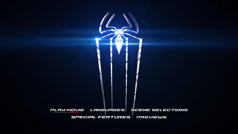 Menu du DVD The amazing spiderman