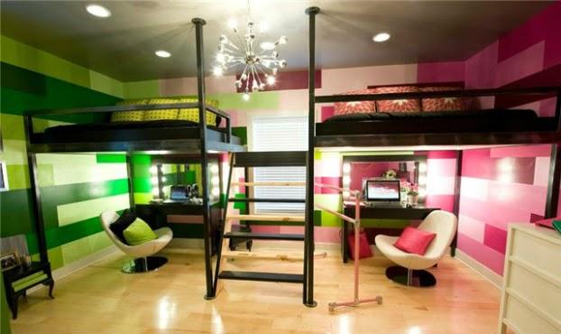 1124 غرف نوم اطفال فردية و زوجية للتوائم تصاميم سراير و حوائط و الوان غرف نوم للاطفال مودرن