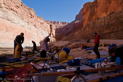 Lot's of gear to pack into a bus, rafts, Grand Canyon of the Colorado River, Chris Baer