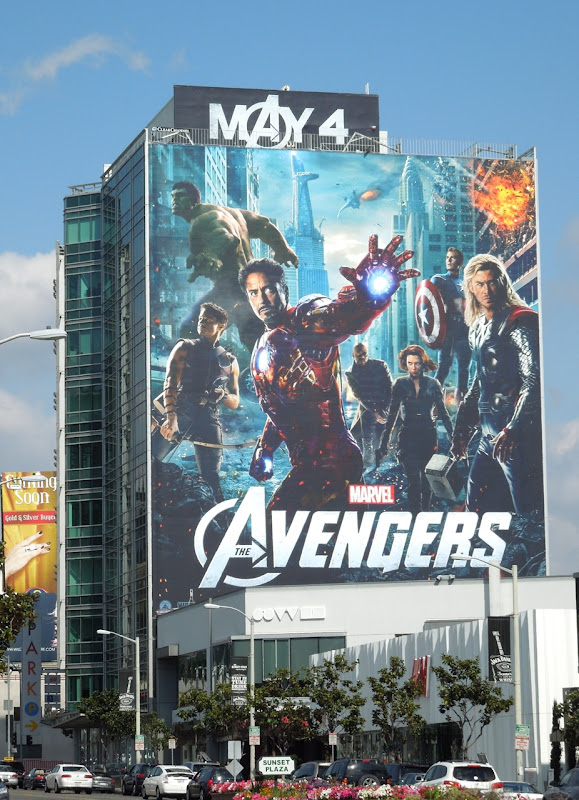 Avengers movie billboard Sunset Strip