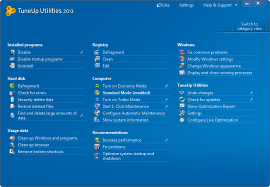 mode test windows 7