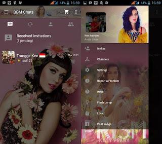 Dual BBM Tema Katy Perry Apk Android Versi 2.10.0.35