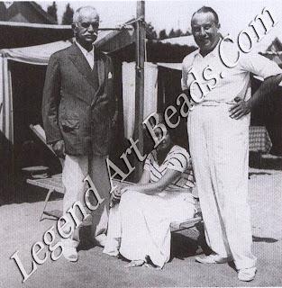 Sotirio, Leonilde and Giorgio Bulgari in the summer of 1932 at the Lido of Venice