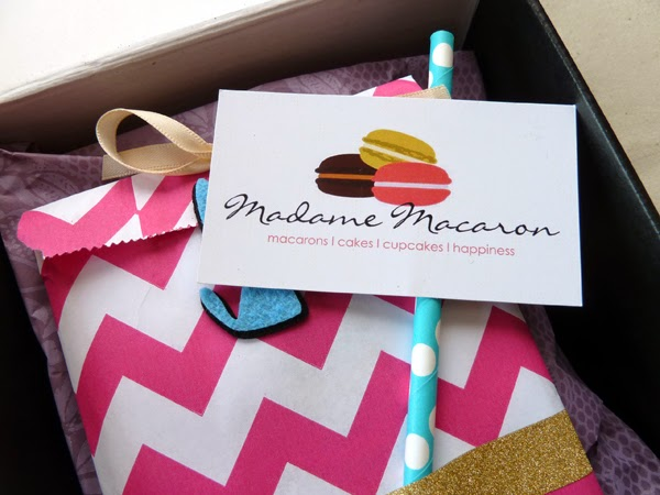 Happiness is... yummy goodies from Madame Macaron +  Macaron of the Month boxes