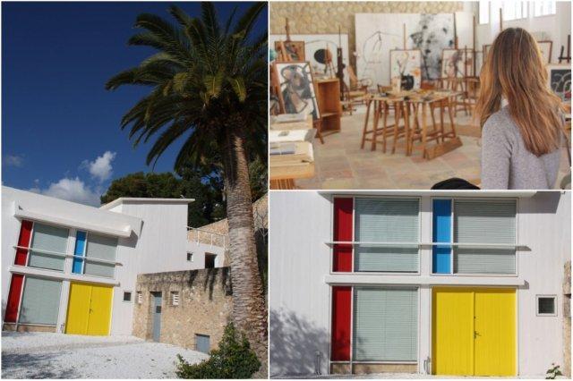 Exterior e interior del Taller Sert en la Fundacion Pilar y Joan Miro en Mallorca