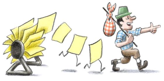 Illustration Mails und Kontakte mit zu Google Mail nehmen