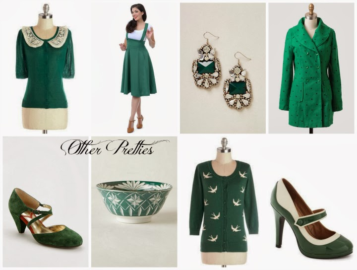 green items wishlist, green separates wishlist, coats, shoes, cardigans, earrings, jumper, A Coin For the Well, Christmas gifts