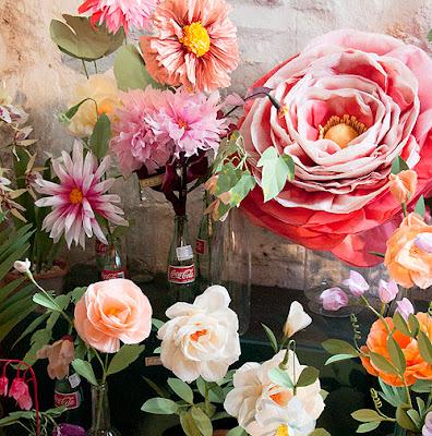 paper textile flowers