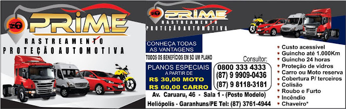 Prime  Rastreamento Proteção Automotiva, Clique na Imagem e Acesse o Site da Prime.