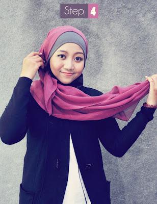 Cara Memakai Jilbab Paris Segi Empat Modern
