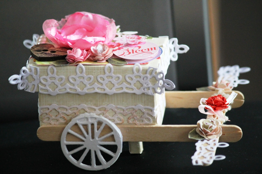 JanetCraft: Little cart @ jewellery box