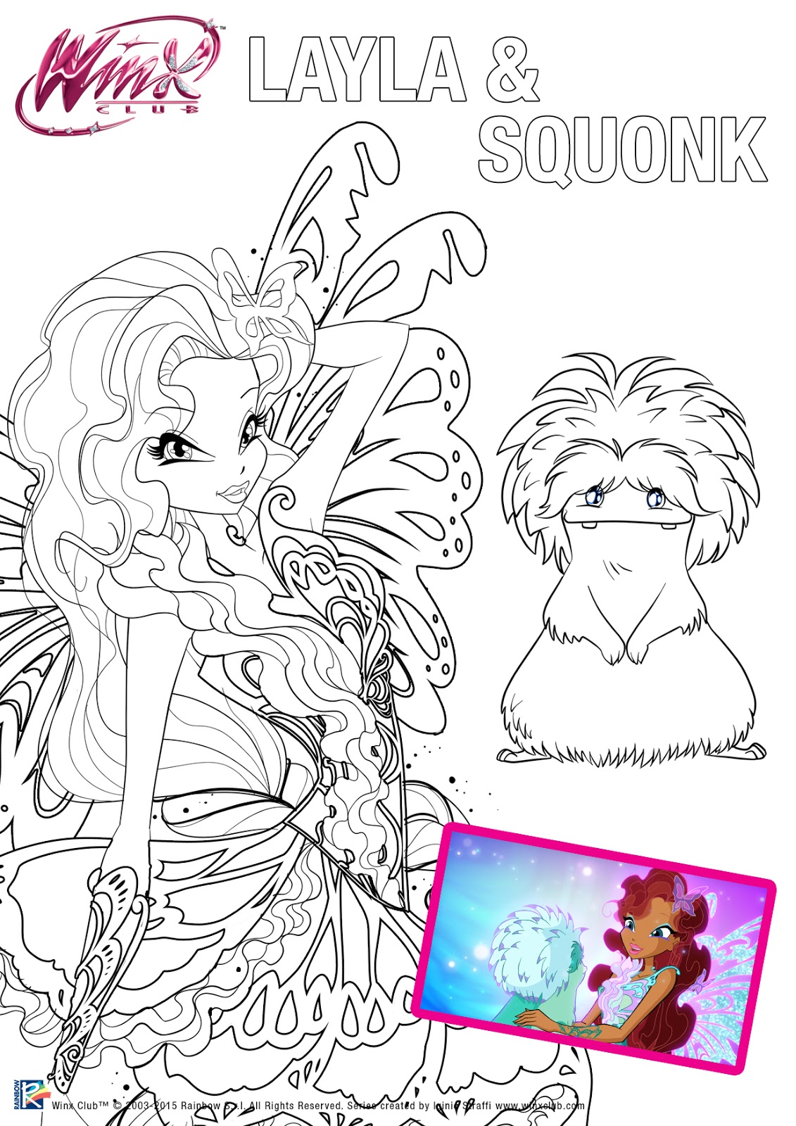 Colorea Winx Club Butterflix con