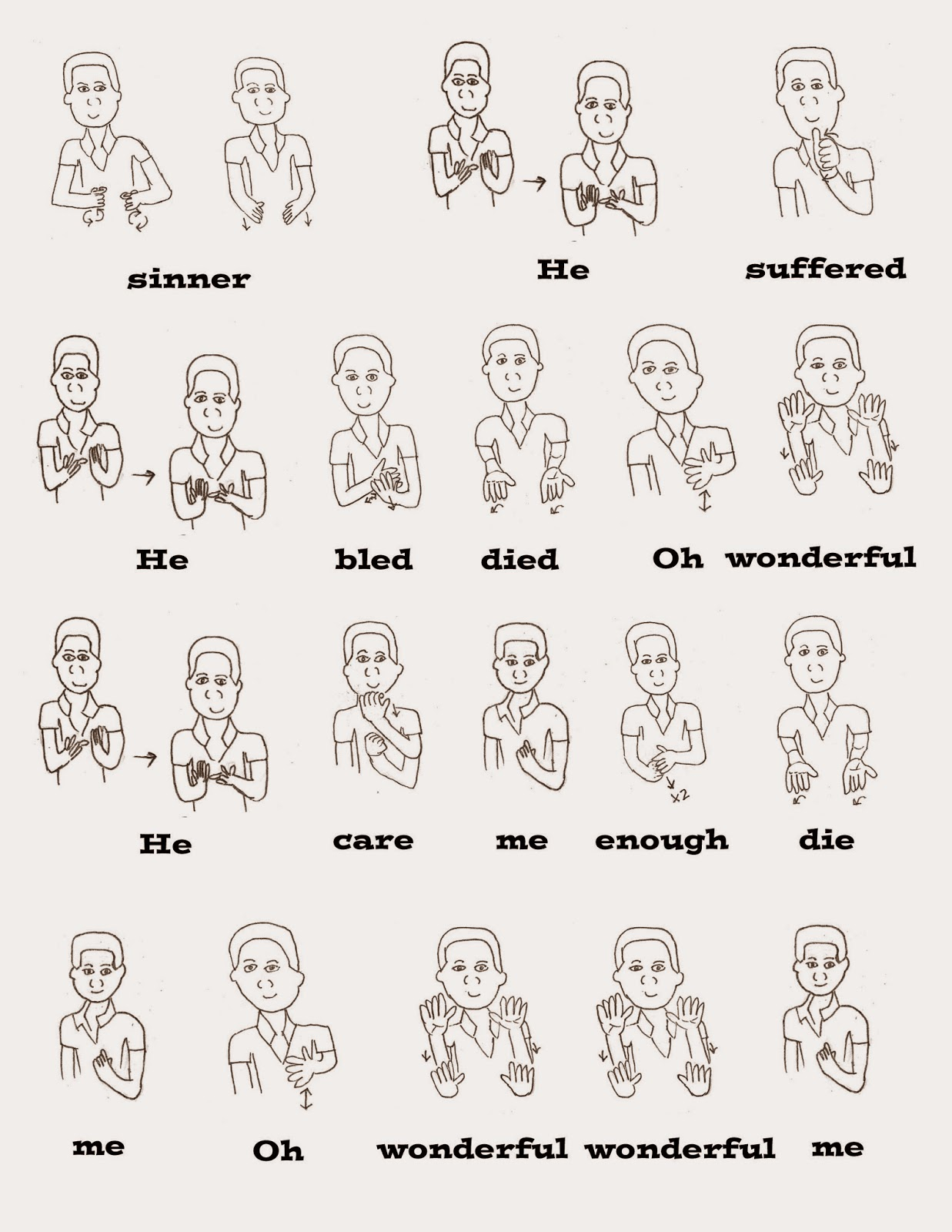 how to say words in sign language
