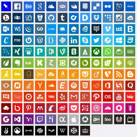 140 Simple Social Media Icons