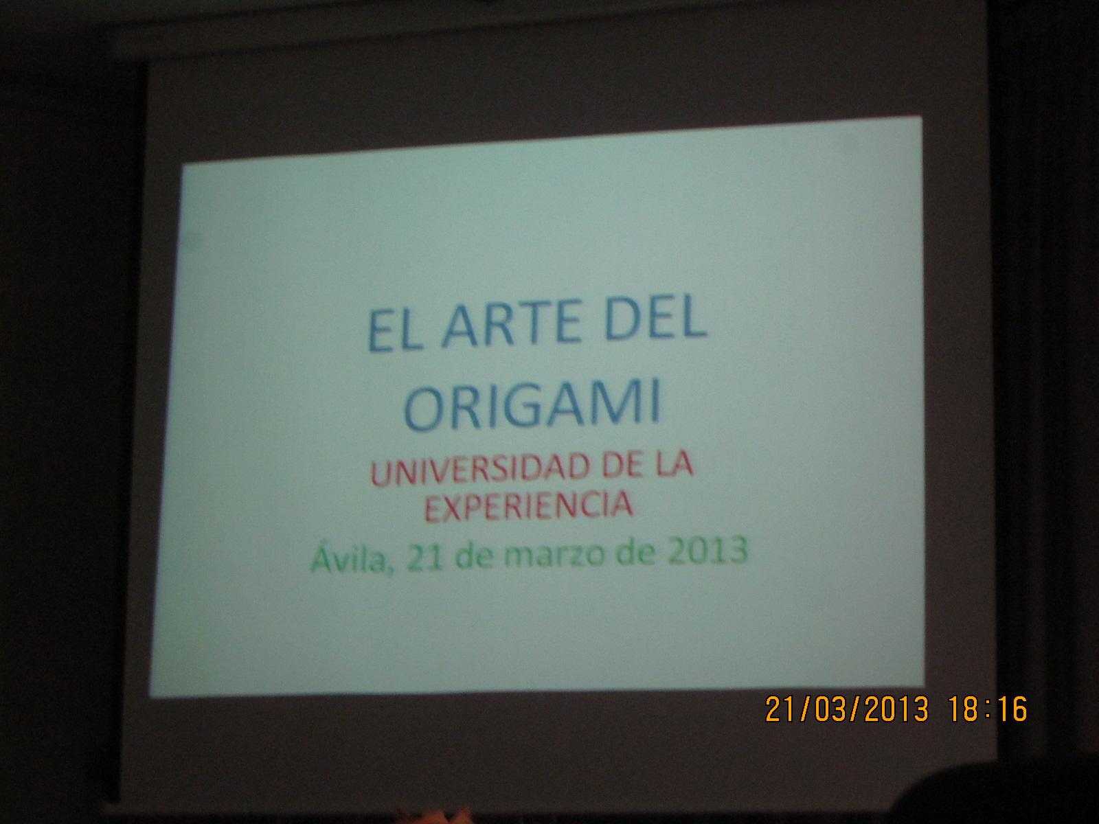 Enlasciudades vila conferencia el arte del origami en for Universidad de arte