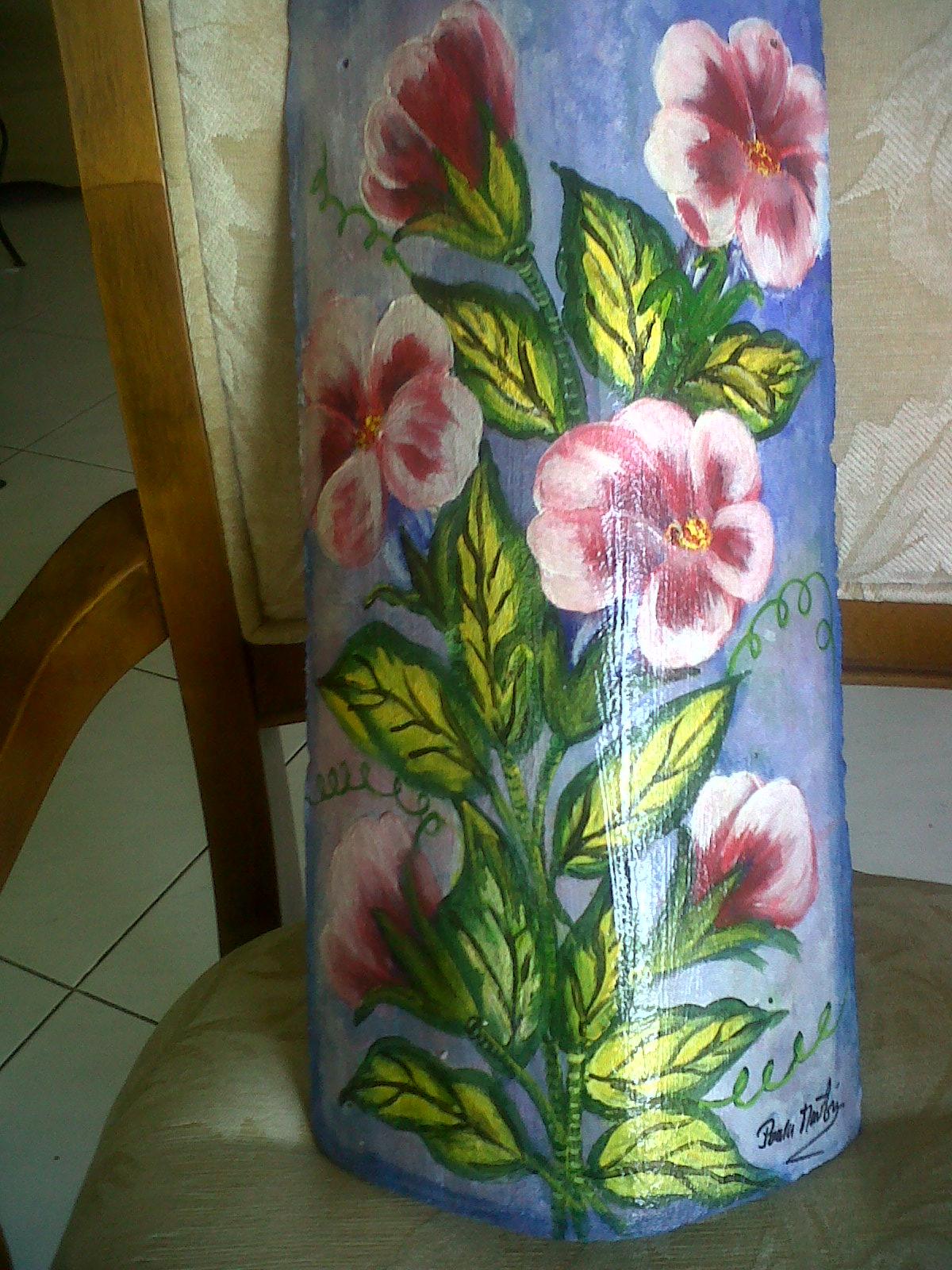 Tejas decorativas estilo caribe o teja pntada con campanitas for Pintura para tejas