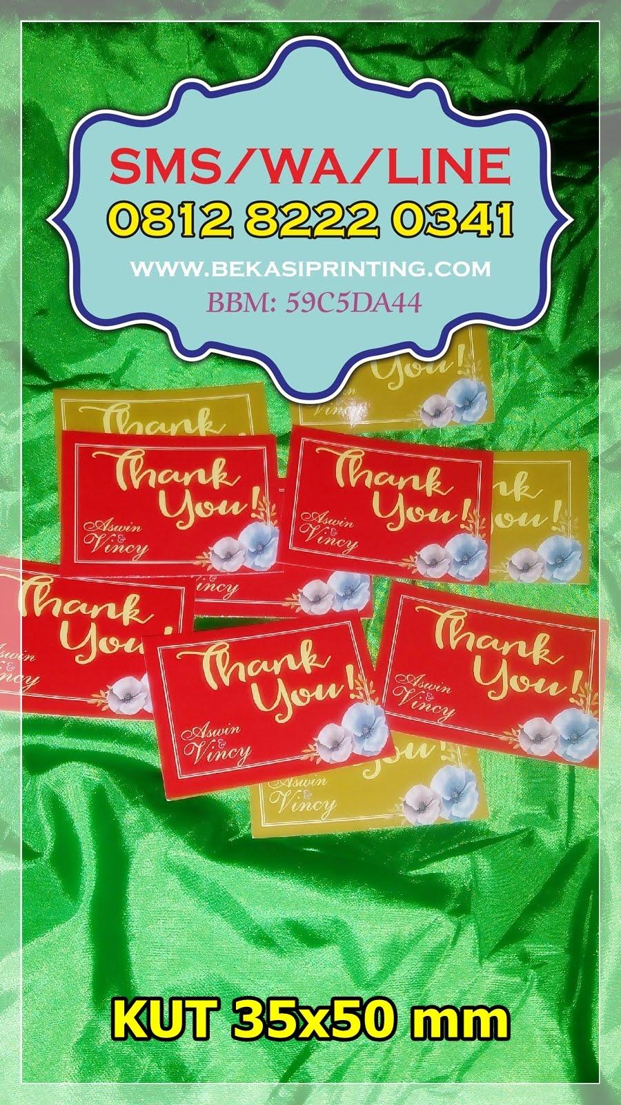 Cetak Kartu Ucapan Terima Kasih Untuk Souvenir Percetakan Bekasi Kupon Pernikahan 18 Printing