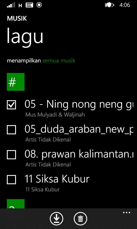 membuat daftar lagu di windowsphone