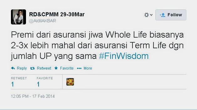 Apa kata Aidil Akbar tentang Asuransi :