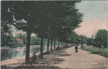 Vintage postcard of Canbury Gardens, Kingston-on-Thames