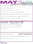 May Organizing Checklist