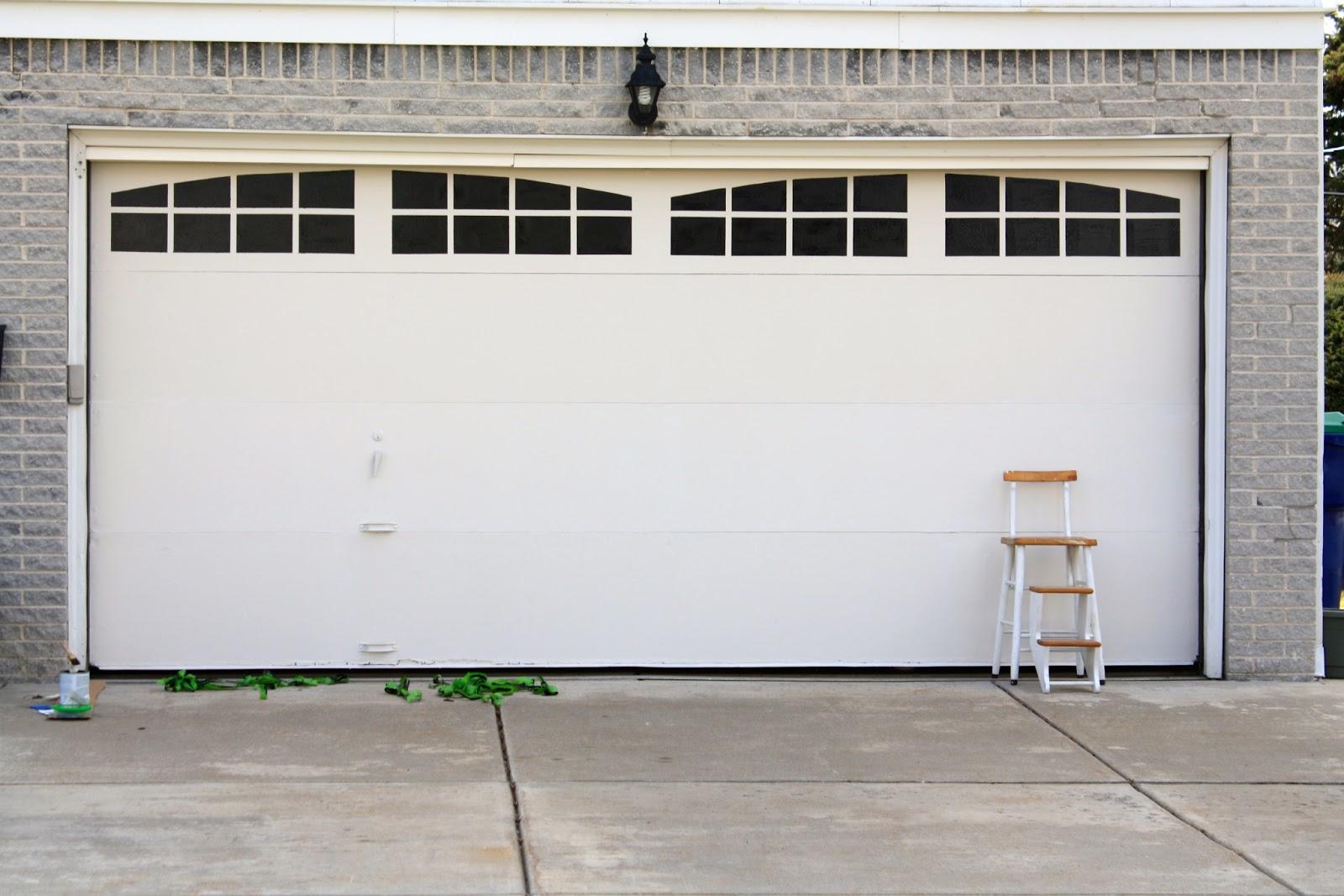 Ballin with balling garage door facelift for less than 20 - Garage door window panels ...