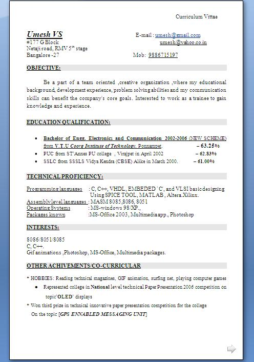 www curriculum vitae format resume and cover letters cv format resume