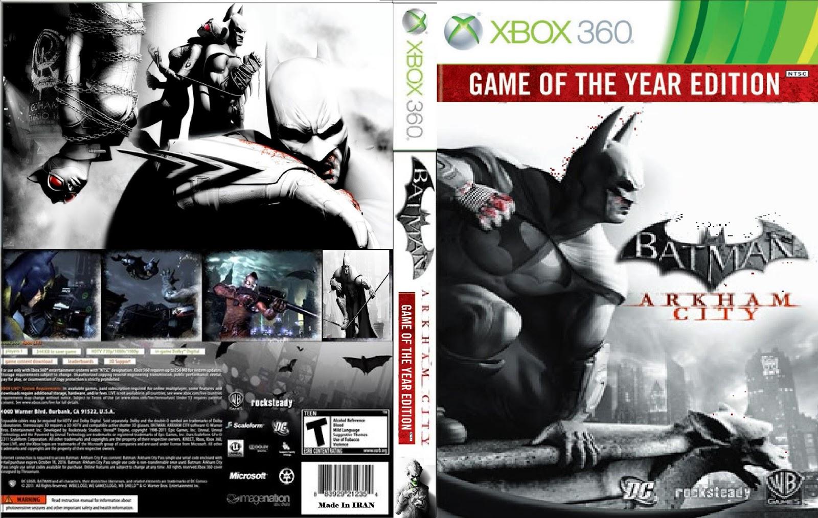 Capa Batman Arkham City Game Of The Year Edition Xbox 360 \u2013 Cover