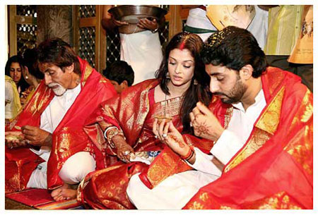 Amitabh in Abhishek wedding