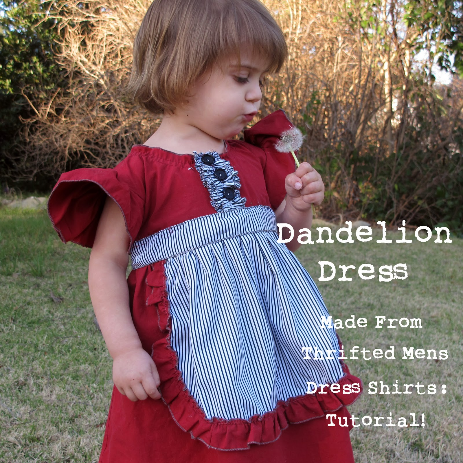 Dandelion Dress Toddler Dress Tutorial Made From Thrifted Mens Shirts