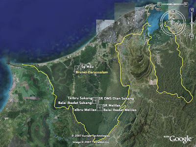 Brunei share kampong sukang pictures google earth sg mau sukang and melilas gumiabroncs Choice Image