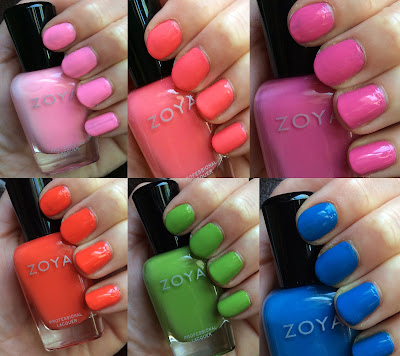 Zoya, Zoya Summer 2014 Tickled Collection, Zoya Ling, Zoya Wendy, Zoya Kitridge, Zoya Rocha, Zoya Rooney, Zoya Tilda, nail polish, nail lacquer, nail varnish, swatches, nail polish collection