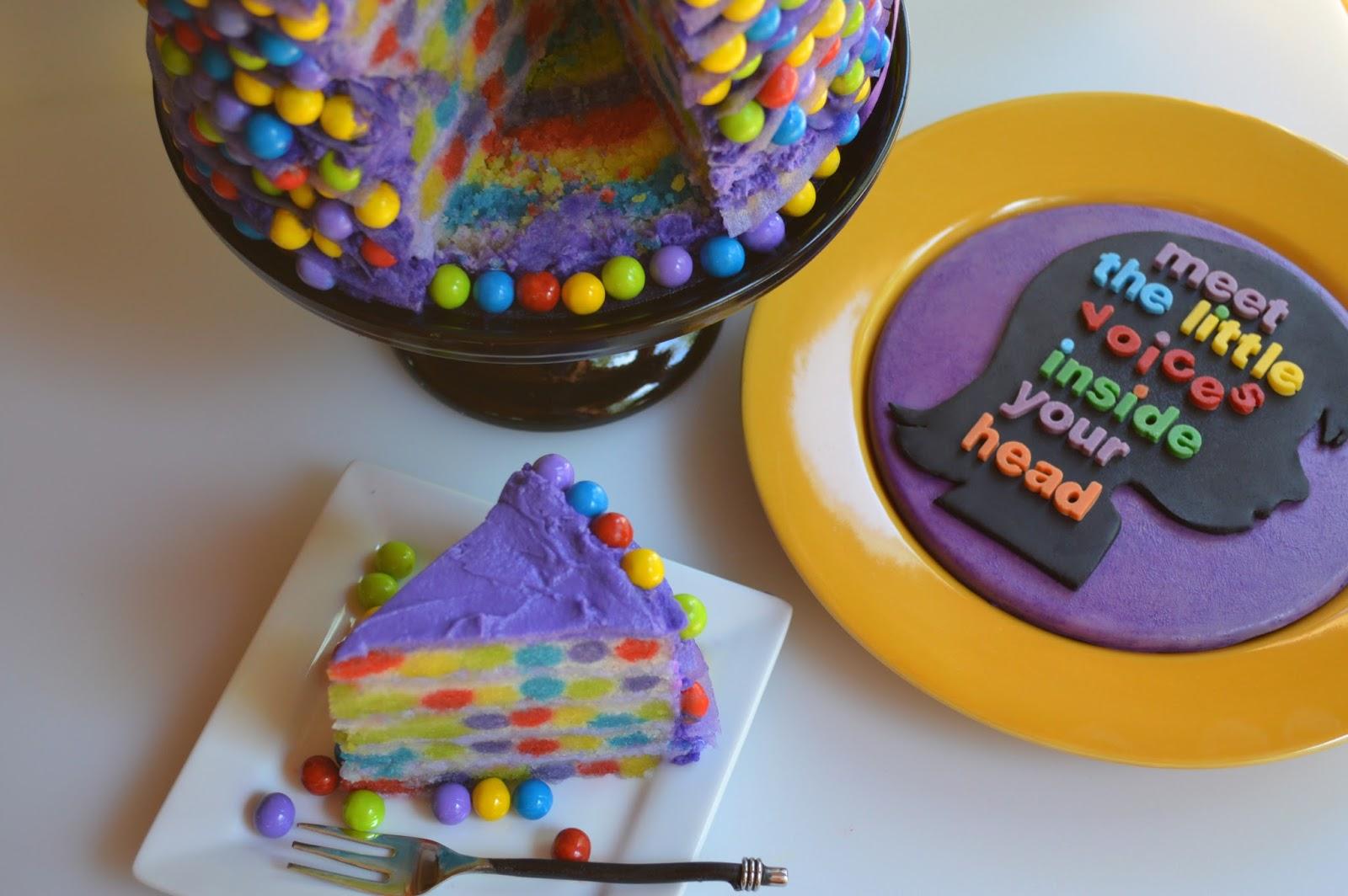 Once Upon A Pedestal Inside Out Movie Cake Disney Pixar Surprise
