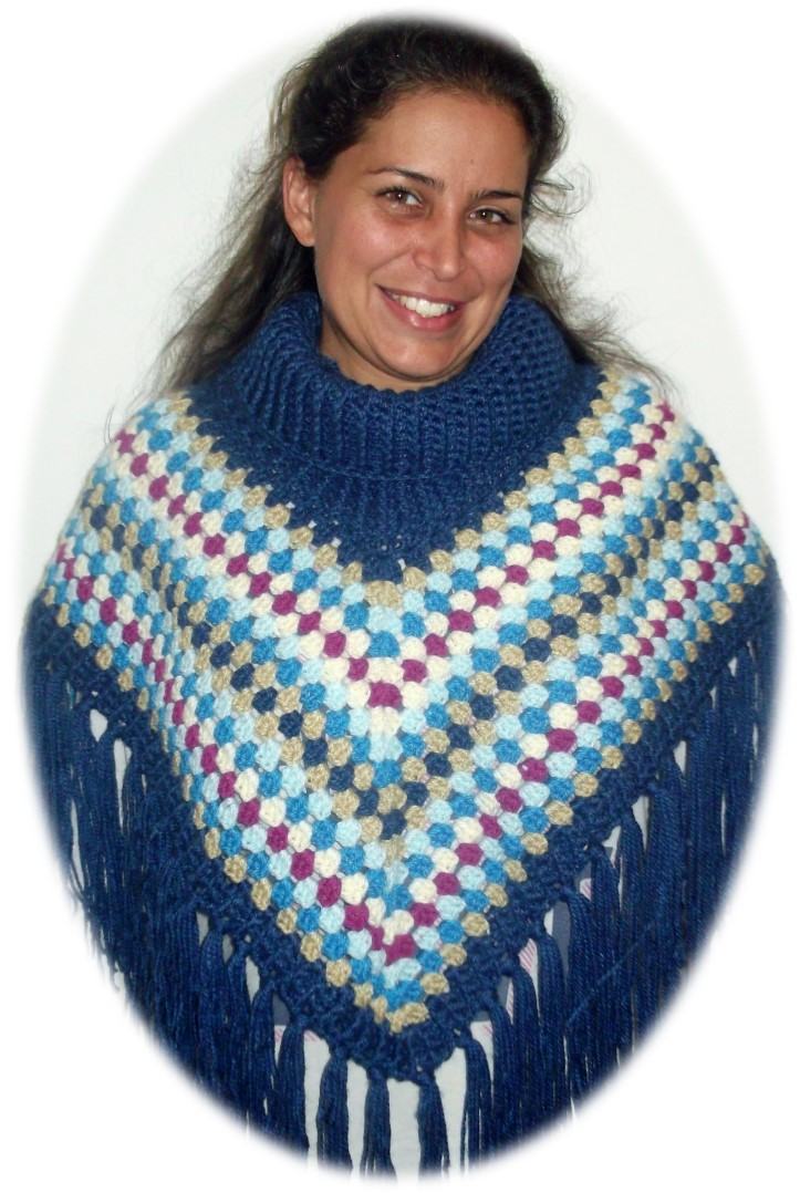Cowl Poncho Dresses For Woman