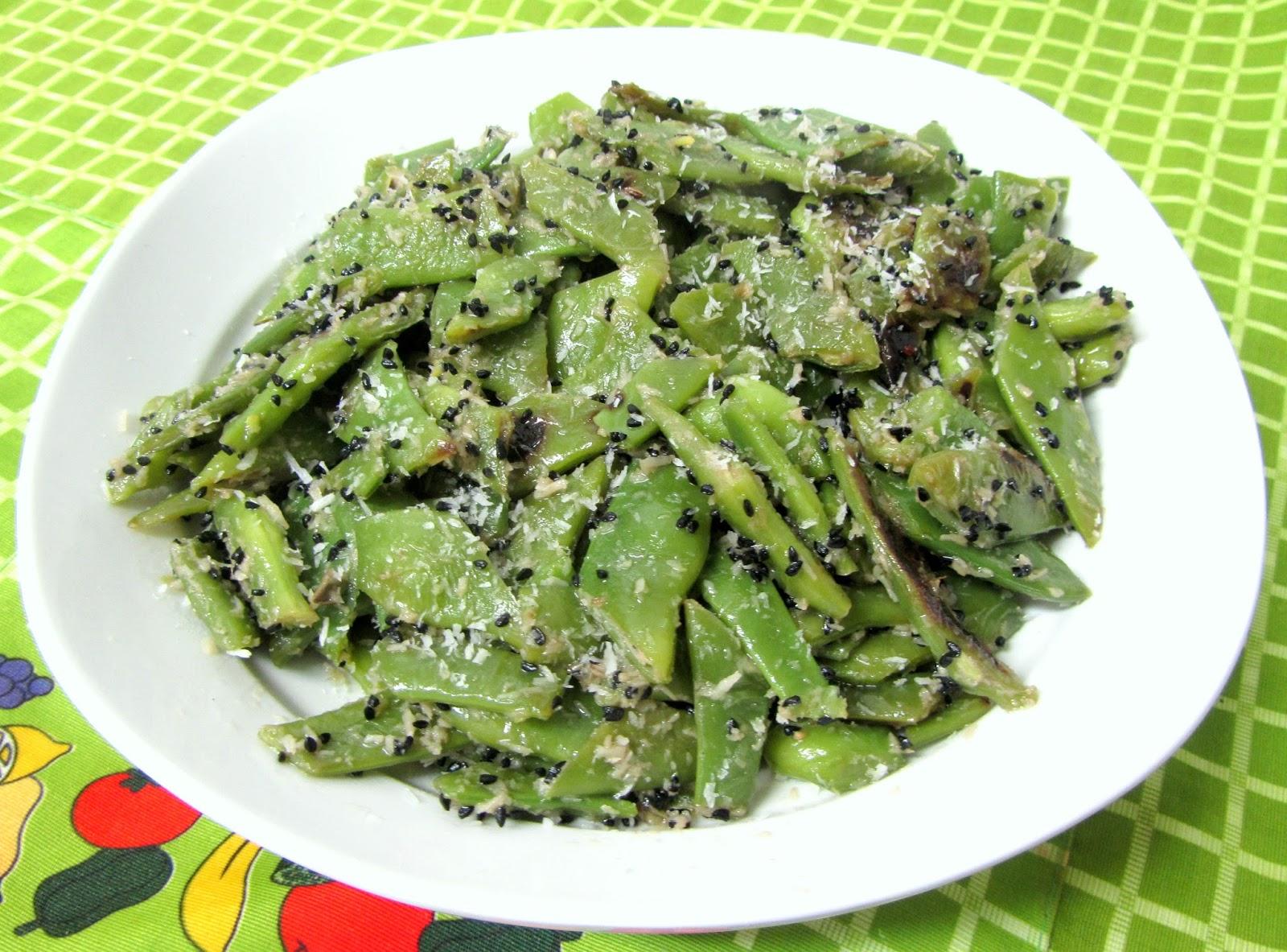 Cocina con luz verde jud as verdes con semillas de cebolla y coco cena hind - Tiempo coccion judias verdes ...