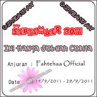 GiveAway IniHanyaSebuahCerita [Sep2011]