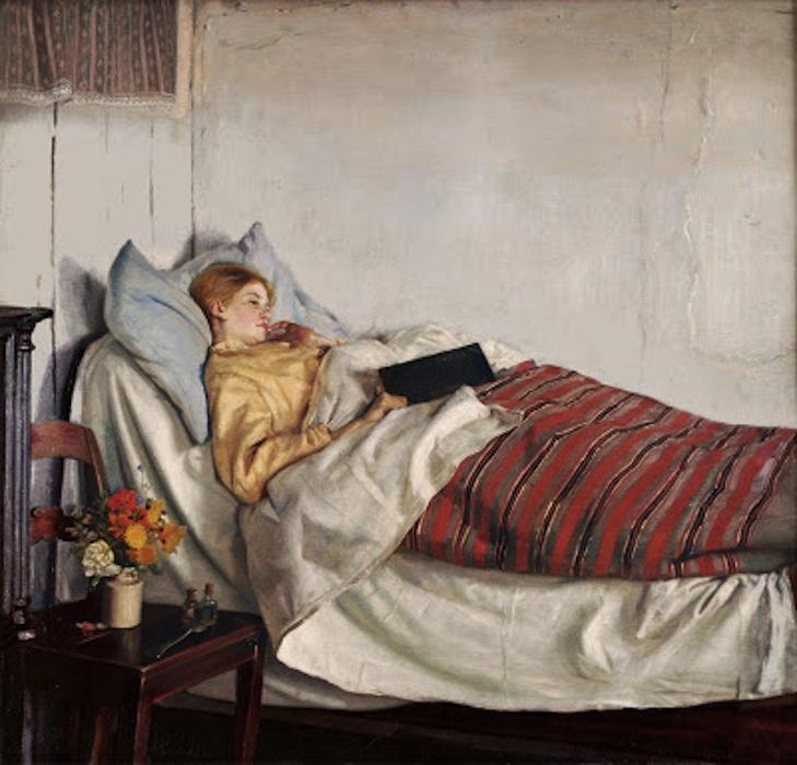 Michael Ancher. Den Syge Pige, 1892