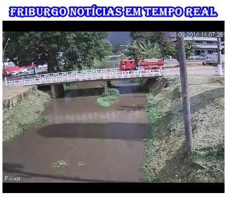 Câmera de monitoramento do Rio Bengalas da Cruz Vermelha em Duas Pedras