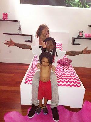 fotos de lil wayne con sus hijos