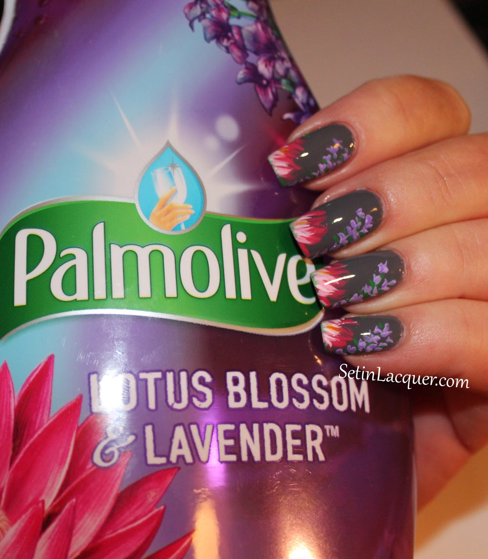 Floral Nail Art Inspired by Palmolive