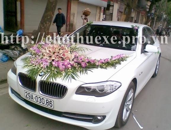 Cho thuê xe cưới màu trắng BMW 532i hạng sang