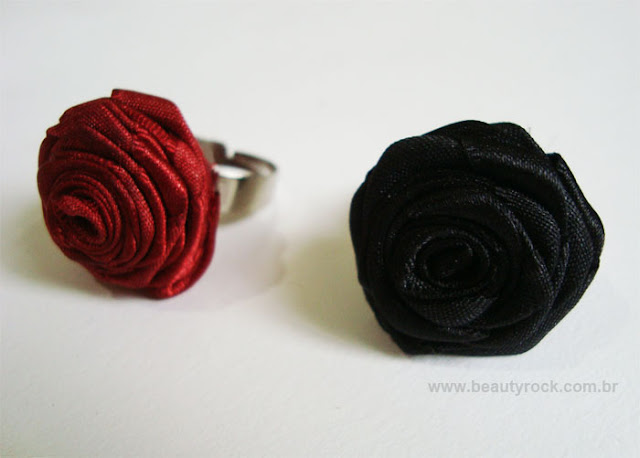 DIY - Tutorial Como Fazer Anel de Rosa