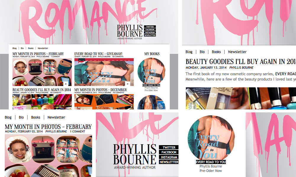 blogger template theme pink romance chic bold typography