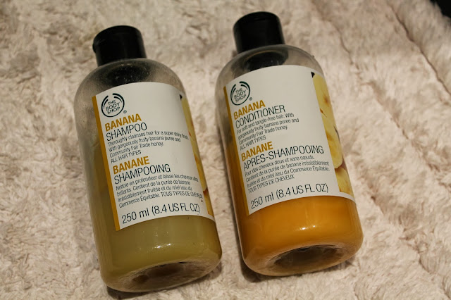 Banana Shampoo and Conditioner Body Shop Review
