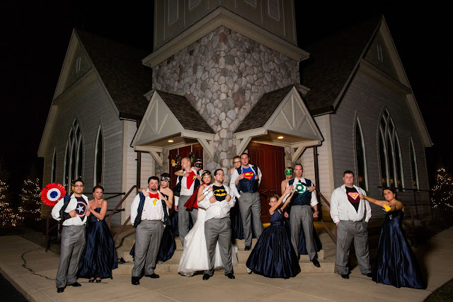 Superhero Bridal Party