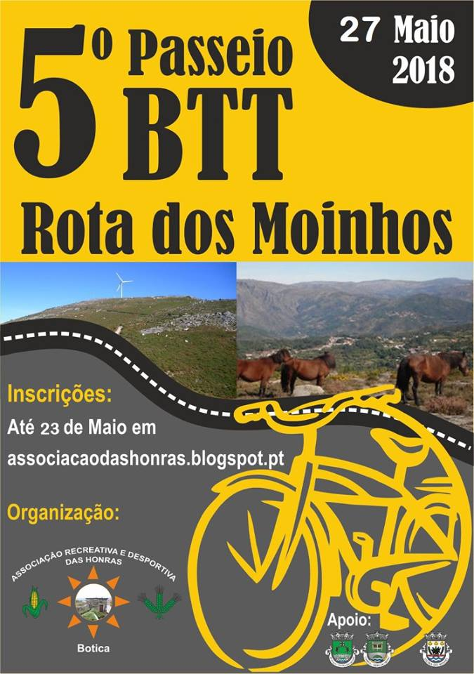 """5º passeio BTT """"Rota dos Moinhos"""""""